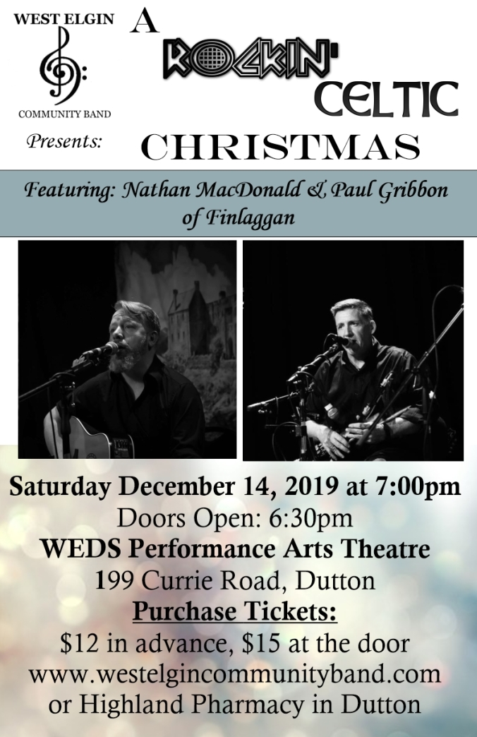 Rockin Celtic Christmas Dec 2019